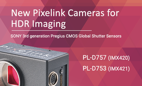 Pixelink® Expands Camera Line Featuring Sony 3rd Generation